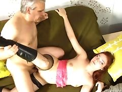 Red-haired Gets Her Love Box Spread By Hard Sausage Of Hot Boy