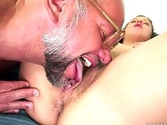 Ginger-haired Gets Satisfaction With Stud's Meat Pole In Her Horny. Hot Mouth