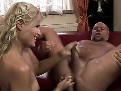 Blonde Has Excellent Dick Sucking Practice And Widens It With Hard Dicked Fuck Friend
