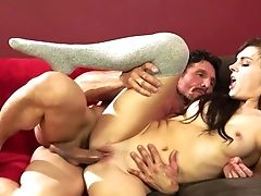 Dark-haired Tommy Guns Gets Her Pretty Face Covered In Gooey Nectar On Webcam For Your Viewing Enjoyment