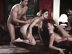 Bitchy Kristen Scott Takes Part In Crazy Group Fuck-a-thon In Front Of Her Hotwife Bf