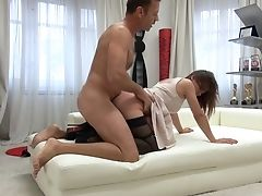Rocco Siffredi Fucks Cock-squeezing Butt Hole Of One Sweet Looking Teenager Named Alena