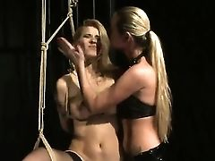 Blonde Shows Off Her Hot Figure As She Gets Tongue Fucked By All Girl Cindy Hope