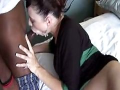 Pregnant Slut Rides Big Black Cock