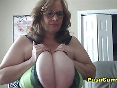 Us Granny Bouncing The Largest Natural Tits In The World
