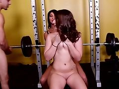 Ffm Threesome In The Gm With Charlie Fletcher And Esmi Lee