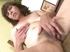 First-timer Mom With Saggy Tits And Very Hairy Fuckbox
