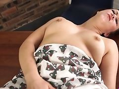 Wonderful Anna Joy Flashes Her Brilliant Big Tits And Gets Ready To Wank A Bit