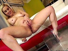 Hot Blonde Urinates
