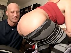 Greedy For Rod Bitch Sara Jay Hooks Up With One Bald Headed Stud