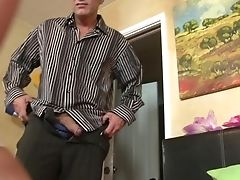 Nubile Is Never Enough And Takes Dude's Stiff Schlong In Her Many Times Used Cunt Again