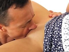 Student Jenny Glam Gets Her Hairless Cunt Fucked