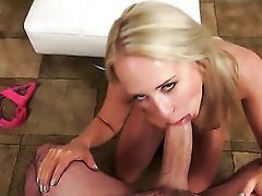 Blonde Gets Her Nice Face Jizz Soaked
