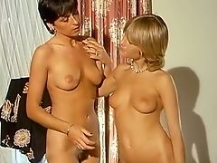 Two Lean And Buxom Old-school Euro Ladies Having Joy In The Bathtub