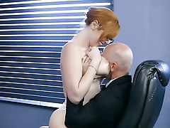 Sandy-haired Lauren Phillips With Big Knockers And Her Hard Cocked Fuck Mate Johnny Sins Both Love Bj Session