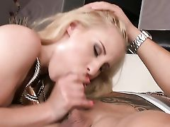 Blonde Plays With Hard Sausage
