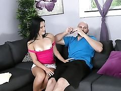 Brown-haired And A Lucky Man Love Oral Hook-up They Will Never Leave Behind