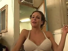Cougar Hunter Bryce With Massive Melons Gets Down On Her Knees To Be Hatch Fucked