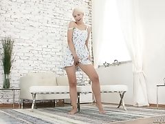Amazing Auburn Czech Sweetheart Eveline Dellai Can Think Only About Solo