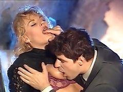 Sensational Blonde Cougar Deepthroats A Meaty Dick On Her Knees