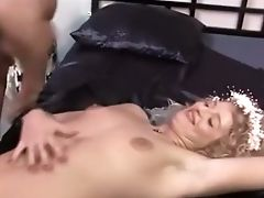 Dirty Euro Bride Getting Gang-fucked On The Sofa