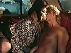 Big-chested Blonde Cougar In The Car Gives Nice Blow-job And Tit-banging
